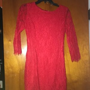 ALL LACE RED DRESS‼️‼️‼️